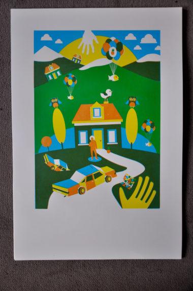 Shéba - Home (sérigraphie 3 couleurs)- 39x51cm - 2016