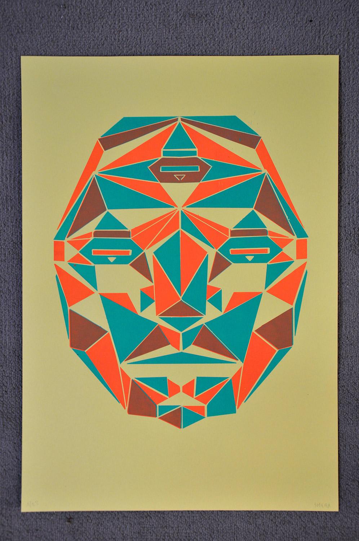 sérigraphie 2 couleurs géometrique