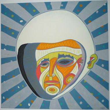 Shéba - Cosmonaute - 80x80cm - 2014