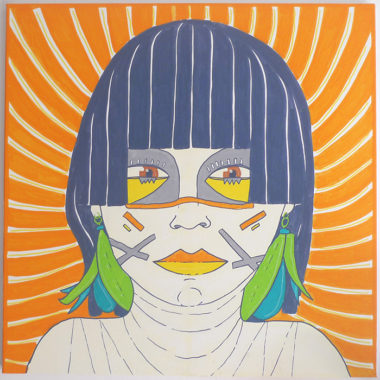 Shéba - Femme au carré - 80x80cm - 2015