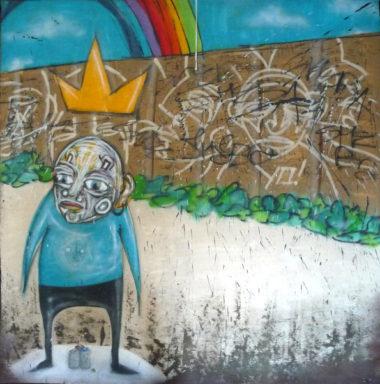 Shéba - Graffiti Rainbow - 160x160cm - 2016