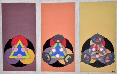 Shéba - Triptik déconstruction - 160x80cm - 2011
