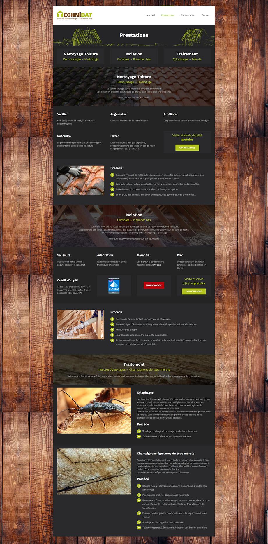 technibat site web présentation