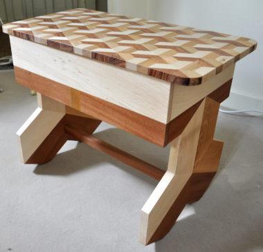 Shéba - Table de chevet Merisier Hêtre Acajou - 60x40x50cm - 2018