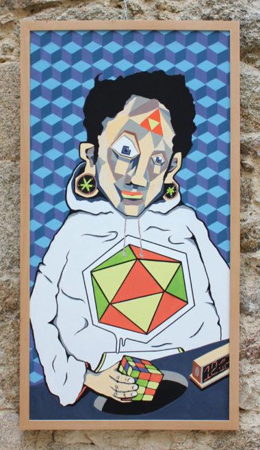 Shéba - Géométrie - Série 12 - 123 x 63 cm - 2018