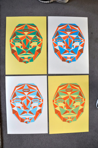 Shéba - Transformers (Sérigraphie 2 couleurs variantes) - 35x51cm - 2016