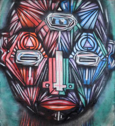 Shéba - Géométric face - 160x160cm - 2016