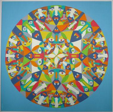Shéba - Disque de Pointcaré - 80x80cm - 2014