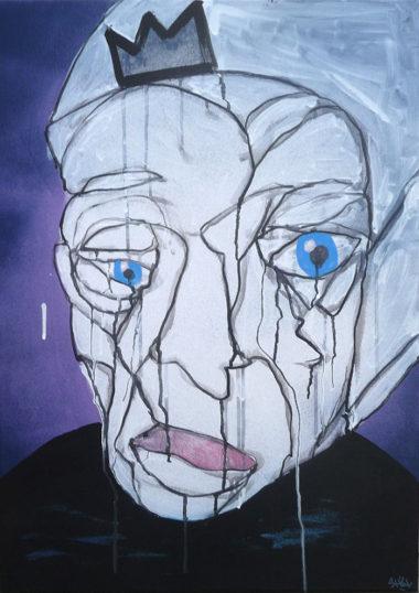 Shéba - Gauche dégoulinant - 50x70cm - 2016