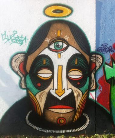 Shéba - Méditation Graffiti - 200x200cm - 2016