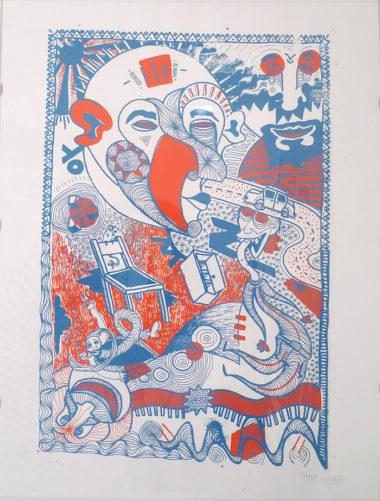 Shéba - Mélanges (Sérigraphie 2 couleurs ft. charlax) - 50x65cm - 2015