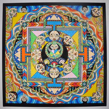 Shéba - Mandala - 80x80cm - 2015