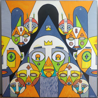 Shéba - Triangulation - 80x80cm - 2015