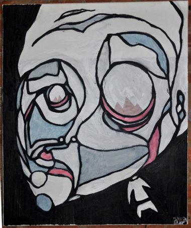 Shéba - Visage effrayant - 50x70cm - 2013