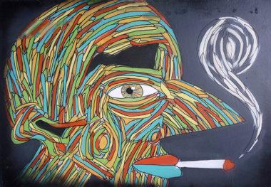 Shéba - Le fumeur - 110x80cm - 2016