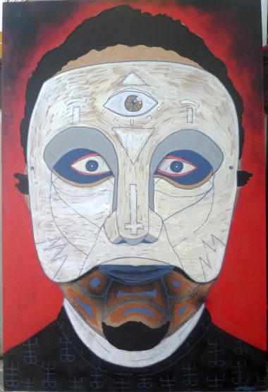Shéba - L'homme masqué - 120x80cm - 2016