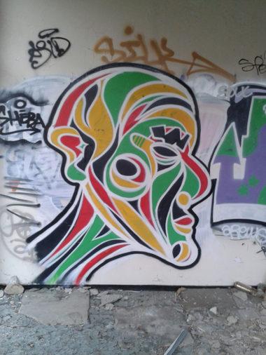 Shéba - Visage rasta - 160x160cm - 2014