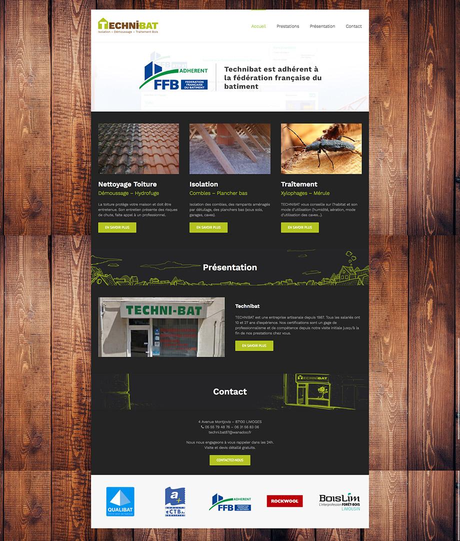 technibat site web accueil