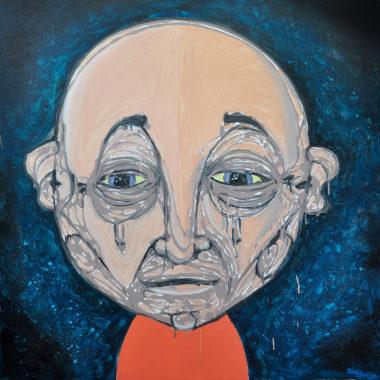 Shéba - La grosse tête - 100x100cm - 2018